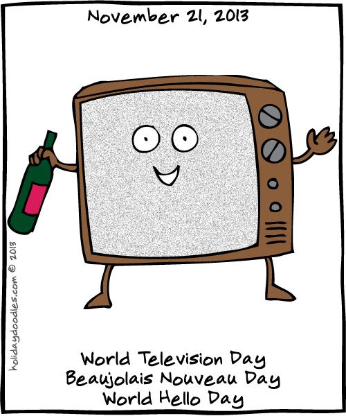 World Hello Day: Holiday Doodles » November 21, 2013: World Television Day